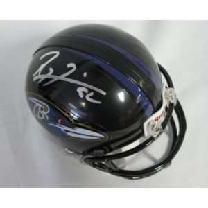RAY LEWIS Ravens Signed/Autographed Mini Helmet JSA