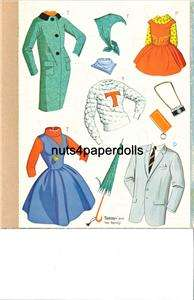 VINTAGE TAMMY FAMILY PAPER DOLL LASER REPRO FREE SH W~2