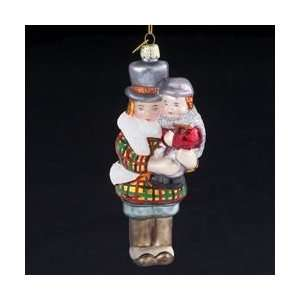 Glass Bob Crachit & Tiny Tim Christmas Ornaments 5.5 Home & Kitchen
