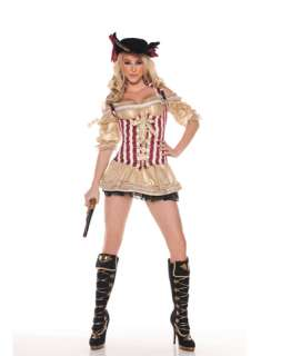 Sexy Gold Pirate Adult Womens Costume