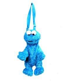 licensed sesame Street Cookie Monster blue plush treat bag