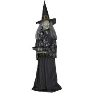 Life Size Animated Witch With Tray Animated Prop, 801687