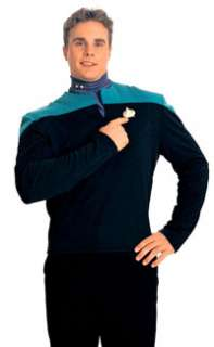 Deluxe Deep Space Nine Star Trek Uniform Shirt Costume (Teal)   Adult