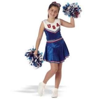 Patriotic Cheerleader Blue Velvet Child Costume   Costumes, 17209