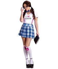 Love Nerds Costume for Women  Sexy Nerd Halloween Costume for