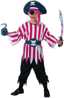 This Child Pirate Boy Costume features an authentic looking shirt