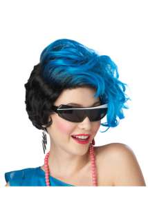 New Waves Costume Wig (Blue/Black) for Halloween   Pure Costumes