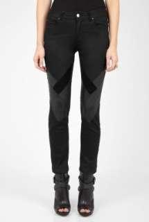 Vanessa Bruno Athe  Black Leather Insert Trousers by Vanessa Bruno