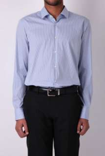 Blue Micro Check Contemporary Fit Shirt by Hugo Boss Black   Blue