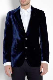 London  Deepest Blue Velvet Westbourne Blazer by Paul Smith London