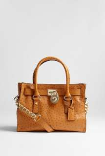 MICHAEL Michael Kors  Tan Hamilton 18K Satchel East West by MICHAEL