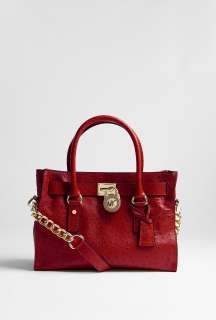 MICHAEL Michael Kors  Red Hamilton 18K Satchel East West by MICHAEL
