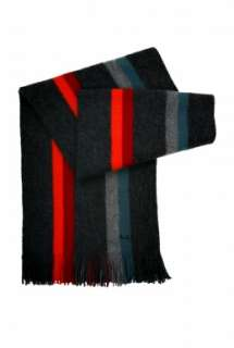 Grey Reversible Stripe Scarf by Paul Smith Accessories   Grey   Buy