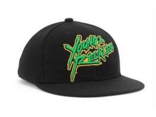 Young and Reckless Sketchyness Black Flex Fit Flat Bill Ball Hat Cap