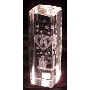 Art Large Rectangle 3D Laser Glass cube *CLOSEOUT*: Home & Kitchen
