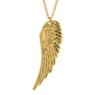 Angel Wing Necklace, 16 Chain In Gold Cora Hysinger Jewelry