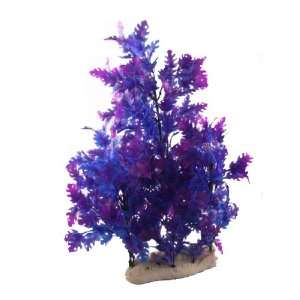 Como Artificial Aquarium Tank Purple Blue Plastic Plant