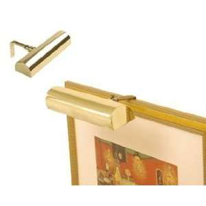 Picture Light, 7 Battery Operated, Polished Brass