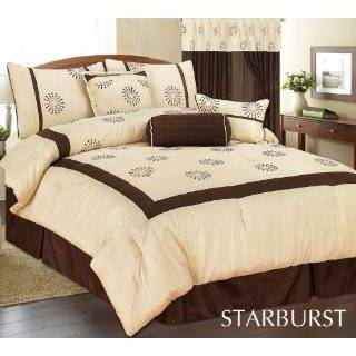 Quality Soft Micro Suede Comforter Set Bedding in a bag, Taupe   Queen
