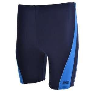 Zoggs Mens Lynton Bike Length Swimming Shorts   Navy Blue