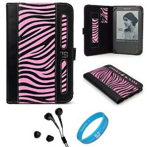 Black and Pink Zebra Executive Leather Book Style