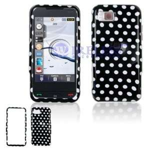 Samsung Eternity A867 Cell Phone Black/White Polka Dot
