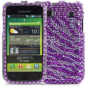 Ecell   PURPLE ZEBRA CRYSTAL BLING CASE FOR SAMSUNG I9000 Electronics