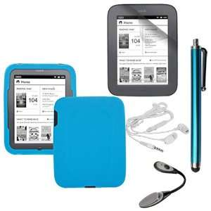 Skque Clear Screen Protector + Blue Soft Silicone Cover