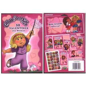 32 Cabbage Patch Kids Valentines CARDS plus Stickers  Toys & Games