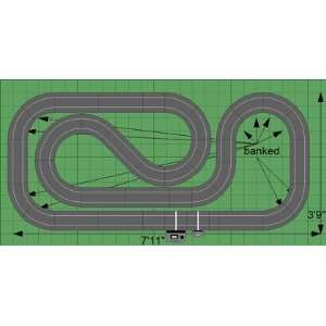 32 Scalextric Analog Slot Car Race Track Sets   Compact F1 Raceway