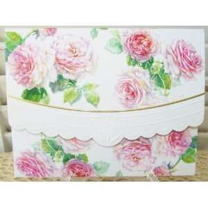 Carol Wilson Antique Roses Blank Note Card Set 10 ct Portfolio