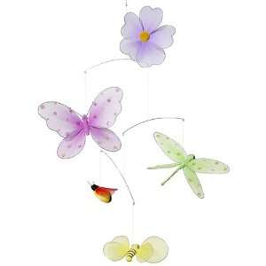 Butterfly Flower Mobile decoration for Baby Nursery ceiling