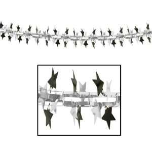 Star Garland/Column   Black and Silver Case Pack 36