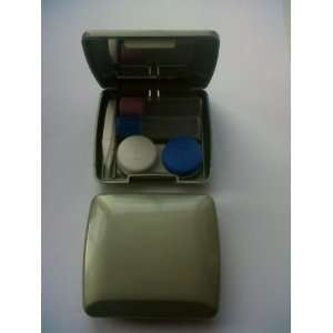 GREEN   DELUXE Contact lens TRAVEL KIT