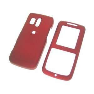 Premium   Samsung R450/Messager Red Rubber Touched Cover   Faceplate