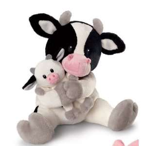 Russ Mommy and Baby Plush Cow Toys & Games