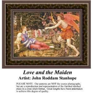 Love and the Maiden, Cross Stitch Pattern PDF Download