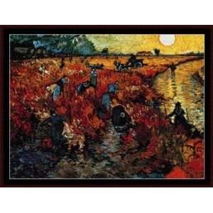 Red Field at Sunset, Cross Stitch from Cross Stitch