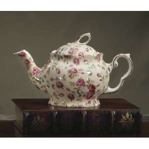 Royal Patrician Bone China 6 Cup Teapot Antique Rose Pattern