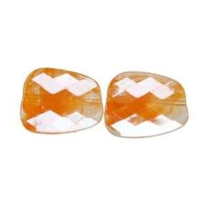 Cousin Jewelry Basics 7 Piece Acrylic Amber Flat Facet