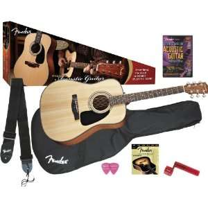 Fender Dg 8S Acoustic Guitar Value Pack: Musical