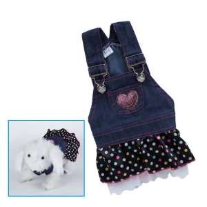 Pet Dog Apparel Clothes Costume Dress Denim Skirt L: Pet Supplies