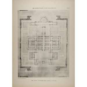 Architecture University Floor Plan   Original Print