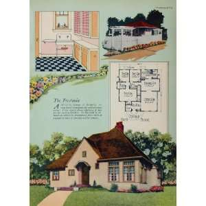 Cottage House Floor Plan Fredonia   Original Print