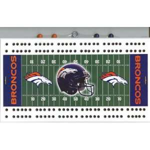 Denver Broncos NFL Football Field Cribbage Board Sports