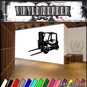 Vehicles Forklift NS008vd Vinyl Decal Wall Art Sticker
