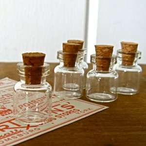50 Pcs  Small  Miniature Glass Bottle with Cork Top No5