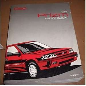1992 Chevrolet Chevy Geo Prizm Service Shop Manual Oem gm Books