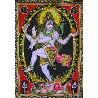 God of Wisdom & Wealth Ganesh / Ganesha / Shiva Family Tapestry 30 x