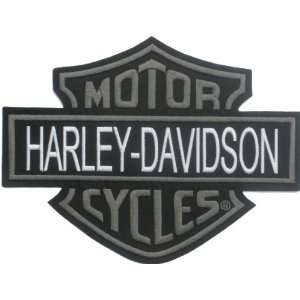 Harley Davidson Bar & Sheild Patch (Gray & White) X X